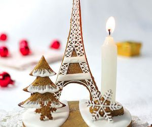christmas, eiffel tower, and gingerbread image