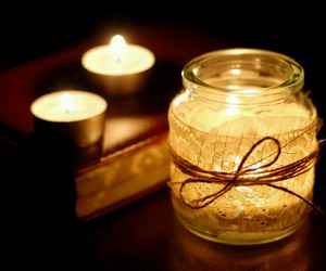 candle, light, and romantic image