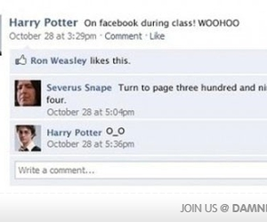 harry potter, facebook, and funny image