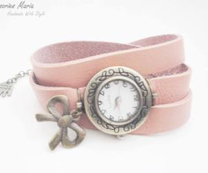 bracelets, clock, and handmade image