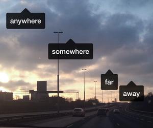 away, grunge, and somewhere image