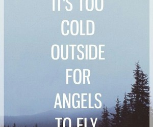 angels, quote, and cold image