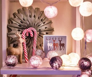 christmas, decorations, and deers image