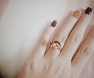 beads, gold, and nails image