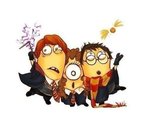harry potter, minions, and hermione granger image