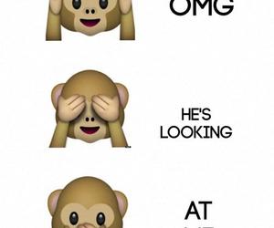 monkey, OMG, and love image