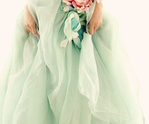 dress, flowers, and mint image
