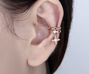 earring, cartilage earring, and silver plated earring image