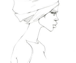 africa, black, and drawing image