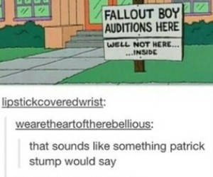 fall out boy, the simpsons, and tumblr image