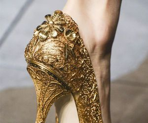 fashion, gold, and shoes image