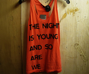 young, night, and shirt image