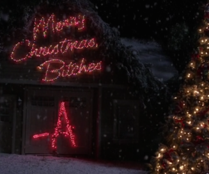 pll, pretty little liars, and christmas image
