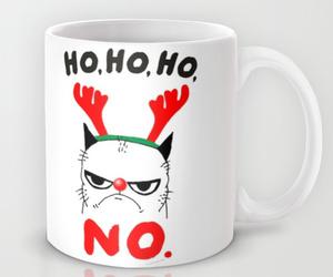 christmas, coffee mug, and funny image