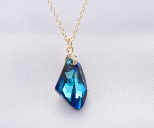 beautiful, crystal, and blue image