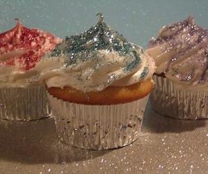 cupcake, glitter, and sweet image