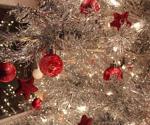 christmas, christmas tree, and silver image