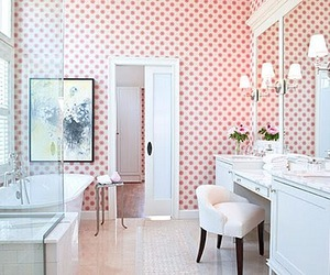 bathroom, pink, and home image