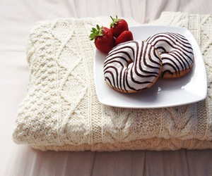 donuts, food, and strawberries image