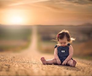 girl, road, and nature image