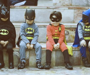 batman, kids, and robin image