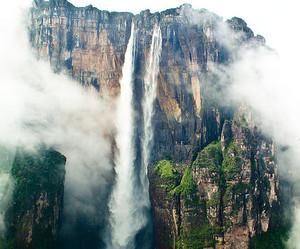 waterfall, nature, and venezuela image