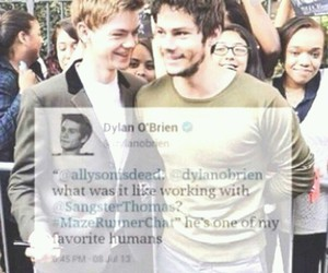 thomas sangster and dylan obrien image