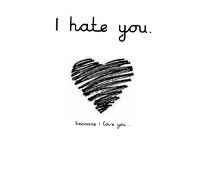 hate, lovely, and you image