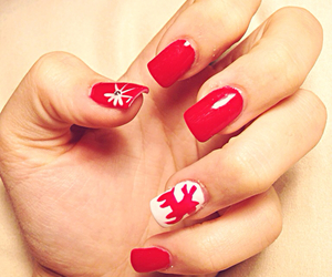christmas, red, and nails image