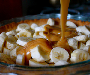 banana, food, and caramel image