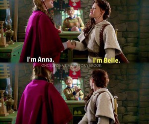 belle, frozen, and once upon a time image