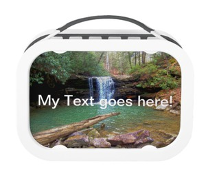 lunchbox, waterfall, and wilderness image