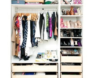 closet, shoes, and we heart it image