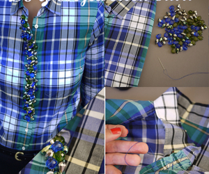 beaded, beads, and blue image