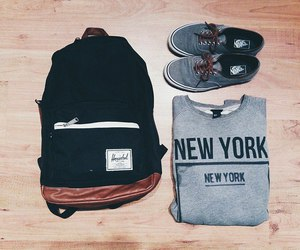 vans, new york, and fashion image