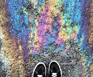 rainbow, shoes, and grunge image