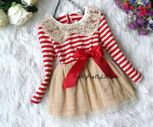 little girl, red dress, and girls dress image