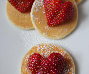 hearts, pancakes, and love image