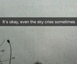 black and white, crying, and rain image