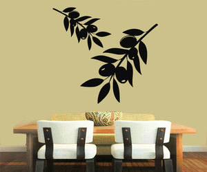 decals for kitchen, olive branch wall decals, and olive tree stickers image