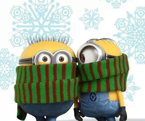 minions, winter, and despicable me image