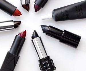 lipstick, makeup, and fashion image