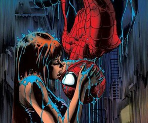 kiss, Marvel, and spiderman image