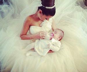 wedding, baby, and bride image