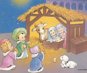children, mary, and Nativity image
