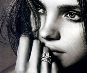 black and white, model, and ring image