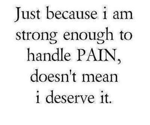 pain, quote, and strong image