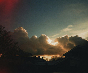 clouds, sky, and house image