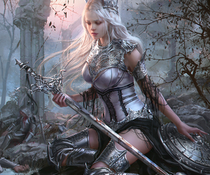 warrior, beautiful, and fantasy image