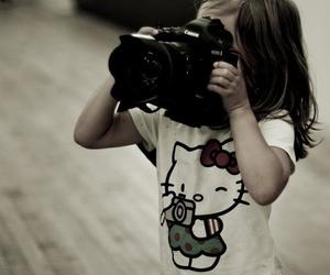 girl, camera, and hello kitty image